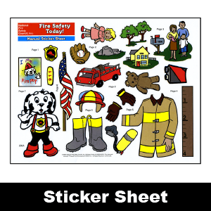 200FA: Fire Safety Today! Manual Sticker Sheet