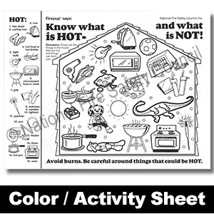 346F: Know What is HOT- and what is NOT! Color / Activity Sheet