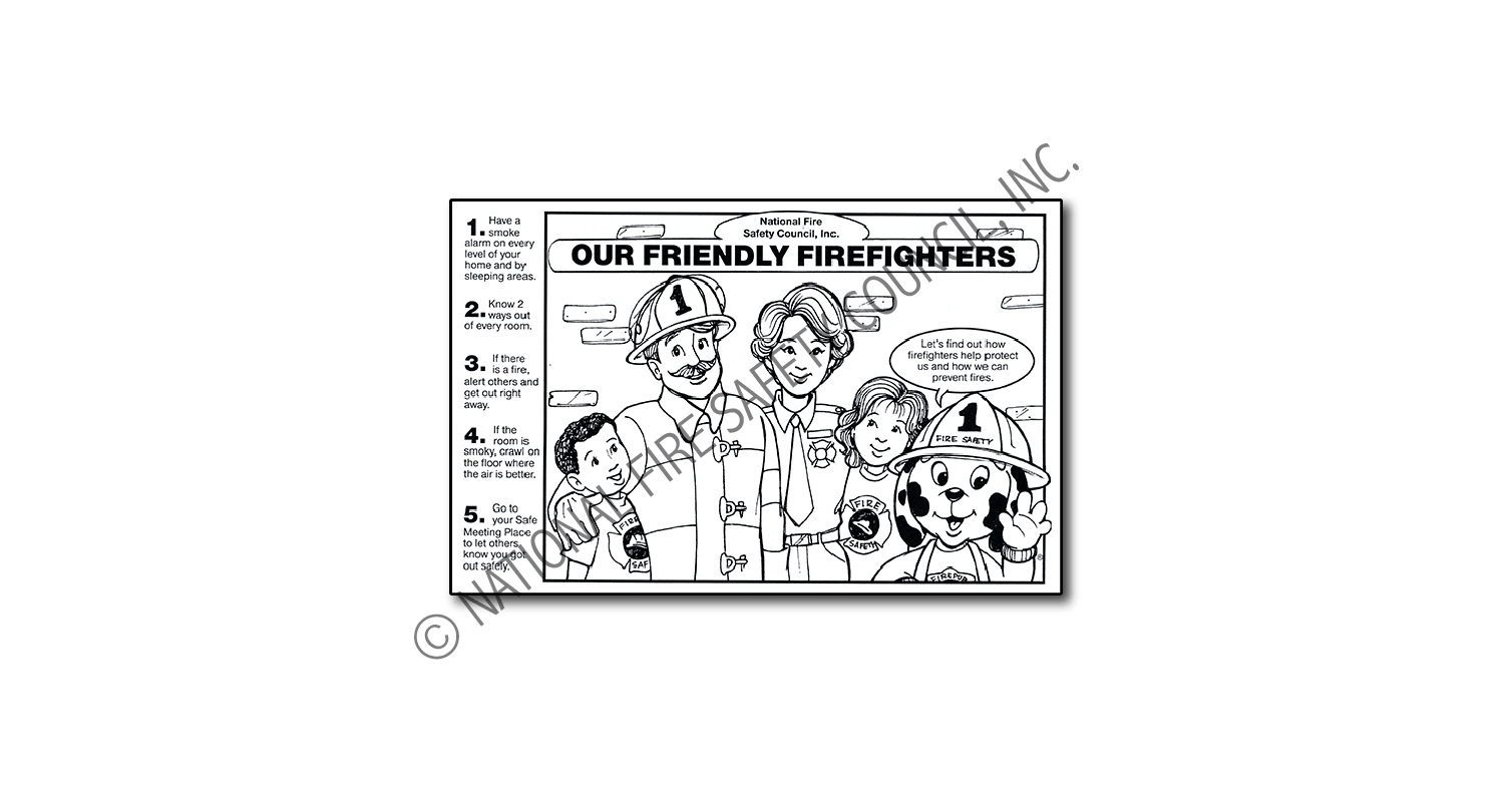 215F: Our Friendly Firefighters Half Colorsheet