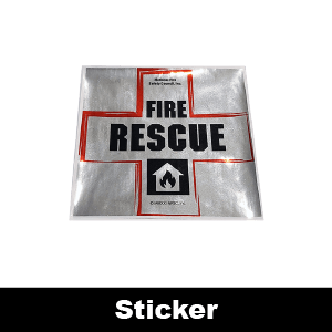 499F: Fire Rescue Cross Decal