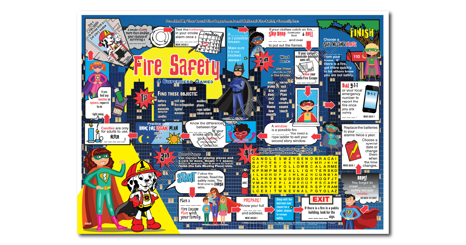 "516F: Firepup®'s ""I Spy"" Placemat"