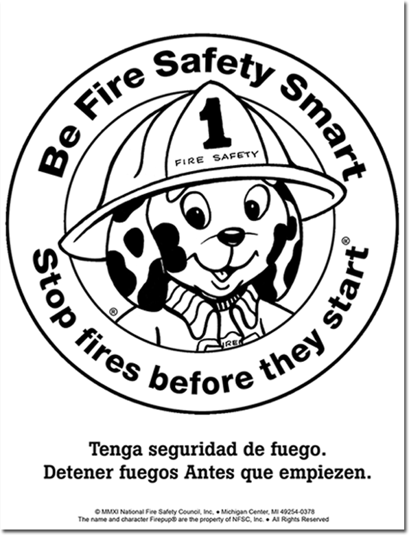 952FW: Meet Firepup® Color / Activity Sheet